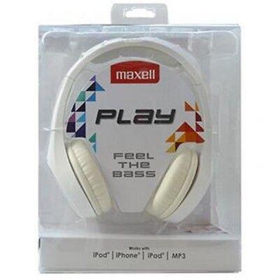 Auriculares cascos de diadema con cable Maxell MXH-HP500 WH blanco 96 Db...