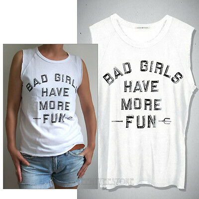 Junk Food Bad Girls Have More Fun Raglan Sleeve Tank Very Soft Tri-Blend - Bad Food