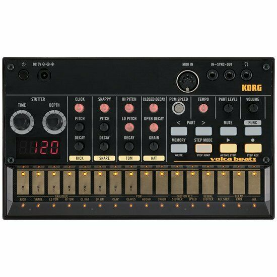 Korg Volca Beats Analog Rhythm Drum Machine Module - Incl 6 x AA Batteries