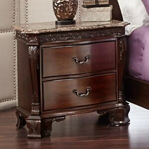 Picket House Furnishings ST650NS Victoria Marble Top Nightstand NEW