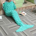 180x90 Garen Breien Zeemeermin Tail Blanket Wave Strip Wa...