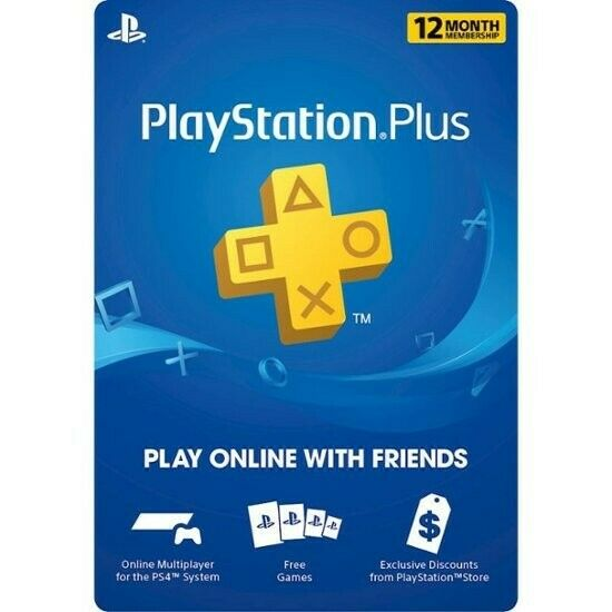 ⚡DIGITAL CODE⚡ PS Network PlayStation Plus: 12 Month Membership - PS4, PS3, Vita