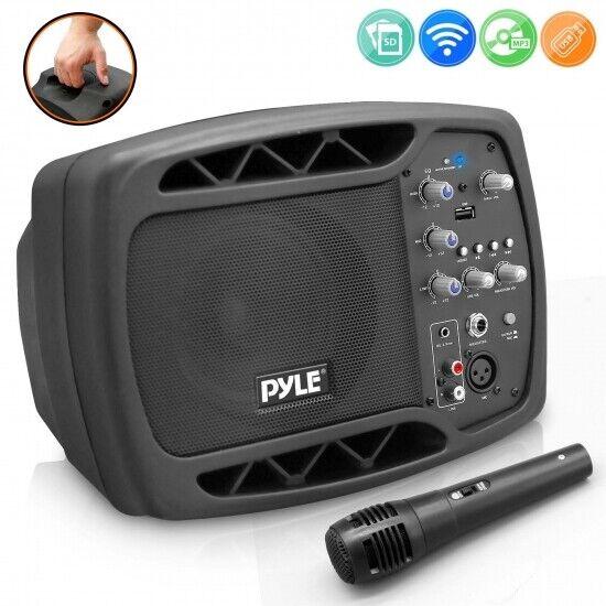 Pyle PPMNSP52 Portable Bluetooth PA Speaker System, 5'' Subw