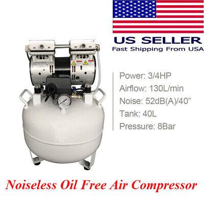 Us Dental Lab Equipment Silent Noiseless Air Compressor Oilless Oil-free Medical