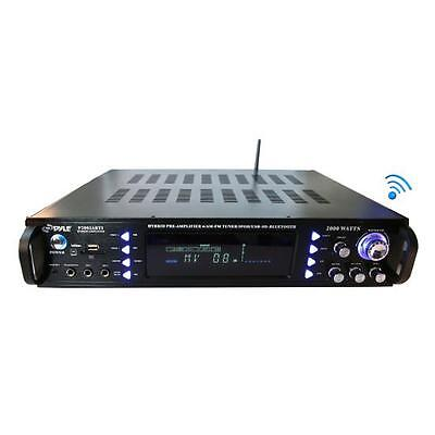 Pyle P2203ABTU Bluetooth Hybrid Pre-Amplifier, Home Theater Stereo Amp Receiver