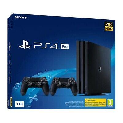 SONY PLAYSTATION 4 PS4 CONSOLE 1TB PRO nuova garanzia d'aprire