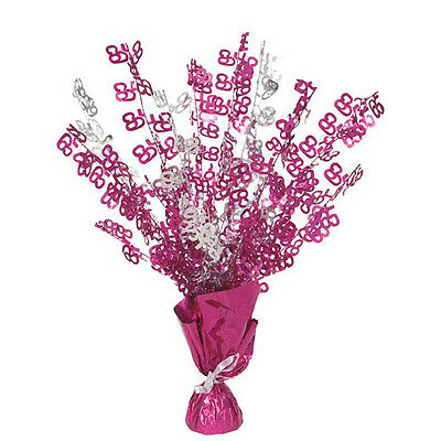 Pink Foil 65th Birthday Cascade Weighted Centrepiece Decoration - New & Sealed