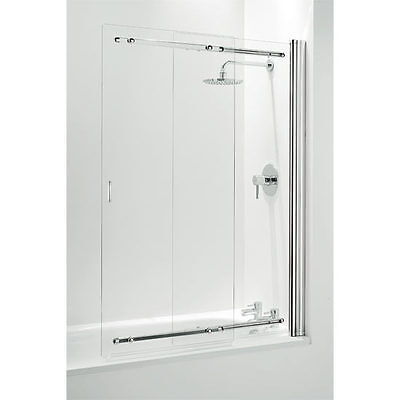 Coram Frameless Sliding Bath Shower Screen 1065mm