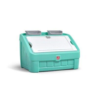 Step2 2-in-1 Toy Box  Art Lid Mint  - Kids Toy Box - BRAND -