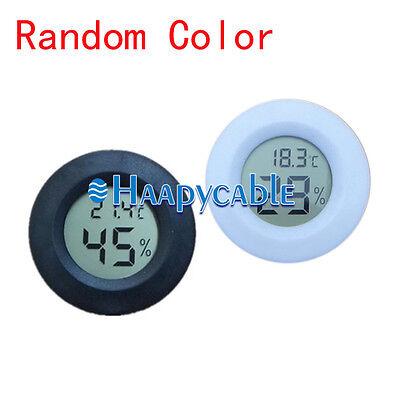 New Multipurpose Cigar Digital Humidor Hygrometer Thermometer Temperature Round