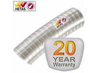 11 metre Flexible Flue Liner 316L 8 Inch (200mm) -Schiedel TecnoFlex Plus (HETAS approved liner)