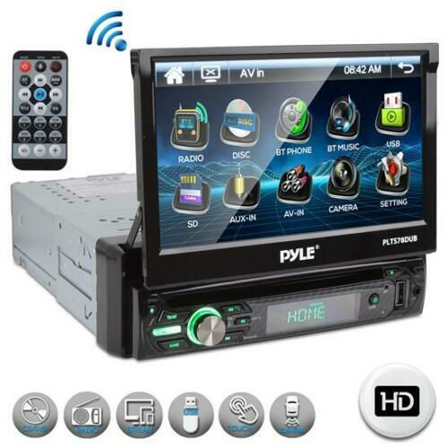 """PYLE PLTS78DUB 7"""" TOUCH SCREEN CD/DVD/MP3 Car Player w/USB AUX Receiver"""