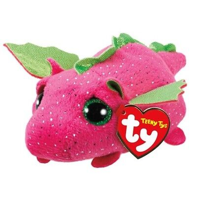 Ty Beanie Boos Teeny Tys 4  Darby Pink Dragon Stackable Plush Stuffed Animal Toy