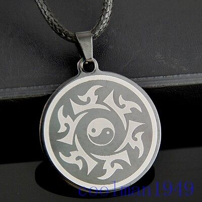 Taoist Tai Chi Yin Yang Pendant Stainless Steel Necklace ST39