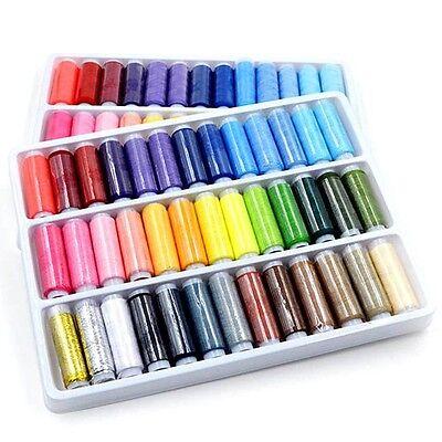 New 39pcs 39 Colors Polyester Spool Sewing Machine DIY Thread 200 Yard