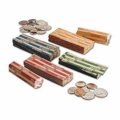 100 Coin Wrappers (25 of each: Penny, Nickel, Dime, Quarter) or custom mix!