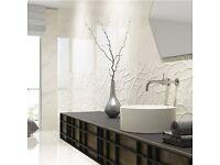 Marble Effect Glossy Tiles (30cmx90cm)
