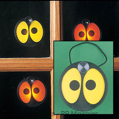 FE-OTC Halloween Spooky Eyes Window Decoration Glowing Battery Operated - Halloween Window Decorations Eyes
