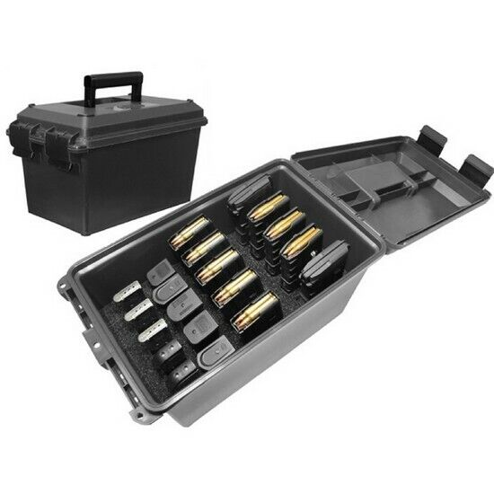 MTM Case Guard TMCLE Black Tactical Mag Can Holds 10 Rifle Mags 10 Handgun Mags