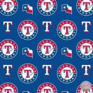 Texas Rangers MLB Cotton Fabric 6657 B