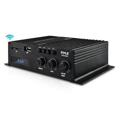 Pyle Pfa220bt Bluetooth Mini Blue Series Compact Class T Amplifier 120W Usb