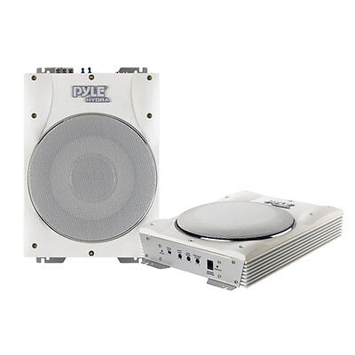 "New PLMRBS10 1000W 10"" Low-Profile Super Slim Active Amplified Marine Subwoofer"