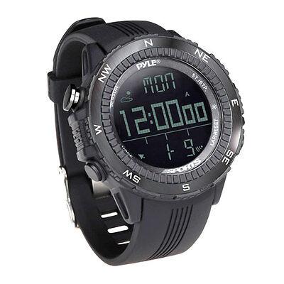 New Pyle PSWWM82BK Digital Sport Watch W/ Altimeter Barometer & Weather Forecast