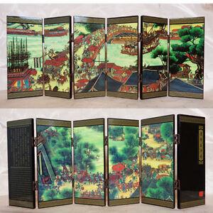 d coration chinoise mini paravent chinois motif la chine antique ebay. Black Bedroom Furniture Sets. Home Design Ideas