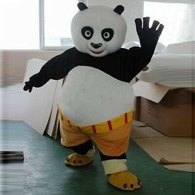 2019 Panda Adult Size Mascot Costume Cartoon Clothing Fancy Dress Suit - Panda Mascot Suit