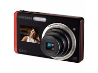 Samsung ST500 Digital Camera - Black and Red (12.2MP, 4.6x Optical Zoom)