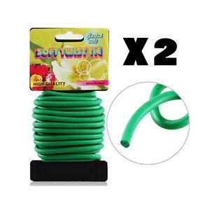 2 x 5m Garden Soft Twist Tie Flexible Twine Wire Plant Support FREE POSTAGE