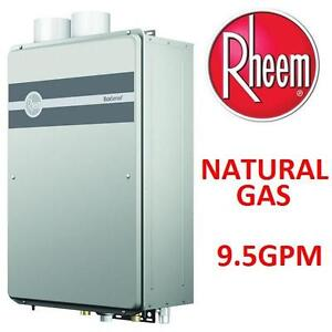 NEW RHEEM NATURAL GAS WATER HEATER - 117274724 - 9.5GPM INDOOR TANKLESS WATER HEATER