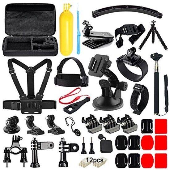 : Soft Digits 50 en 1 Kit de accesorios de la cámara de acción para GoPro Hero