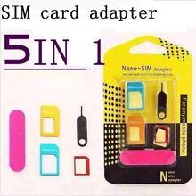 Standard Micro Adapter Adaptor SIM Card 5 IN 1 Armadale Armadale Area Preview