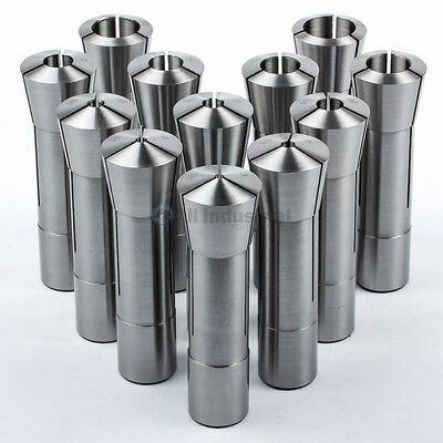 12 Pc R8 Collet Set Metric 3mm to 22 mm High Precsion for Bridgeport 12 Piece