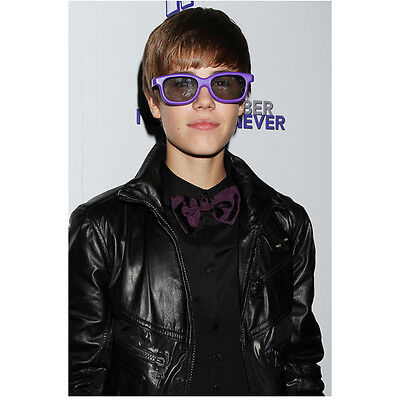 Justin Bieber Never Say Never Wearing Purple Shades 8 x 10 Inch Photo