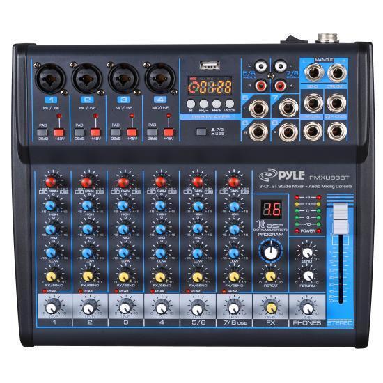 Pyle PMXU83BT Bluetooth 8 Ch. Studio / DJ Controller Audio M