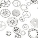 60-70Pcs Steampunk Altered Art Craft Cyberpunk Gear Wheel...