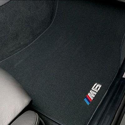 BMW M6 Black Carpet Floor Mats w/Heel Pad 2007-2012 M6 Convertibles 82110427297