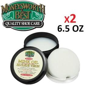 NEW 2 MONEYSWORTH MINK OIL 6.5 OZ 209740504 Waterproofs and conditions all outdoor leather items