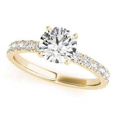 Genuine 1.25 Ct Round Cut Diamond Engagement Ring I,VS2 GIA White 14K Gold 5