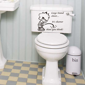 Bathroom toilet art vinyl sticker home diy wall art deco style wall decal ebay - Deco toilet ontwerp ...