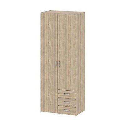 دولاب جديد Tvilum 70425AKAK Space 3 Drawer And 2 Door Wardrobe- Oak Structure- NEW