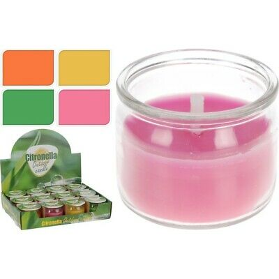 MINI VELAS CITRONELLA NARANJA DECORACION HOGAR