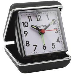 Westclox 44530QA Black Digital Travel Ascending Alarm Clock w/Folding Case