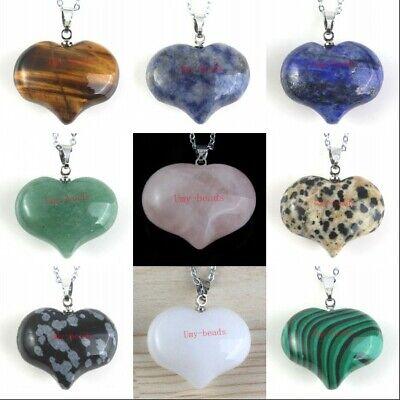Natural Healing Crystal Quartz Gemstone Peach Heart Shape Reiki Stone Pendant Gemstone Heart Shape Pendant