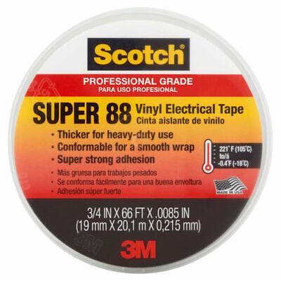 3m 6143 Scotch Vinyl Plastic 34 X 66 Electrical Tape Super 88