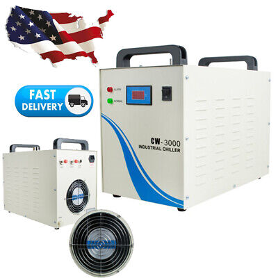 Industrial Water Chiller Cw3000 For Cnc Laser Engraver Engraving Machine 9l Tank