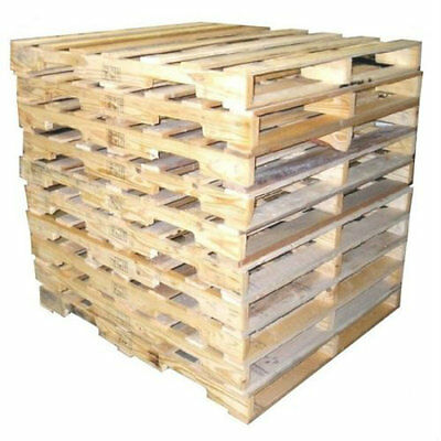 10 Recycled Wood Pallets - 48 X 40 4-way Pallet Fast Shipping