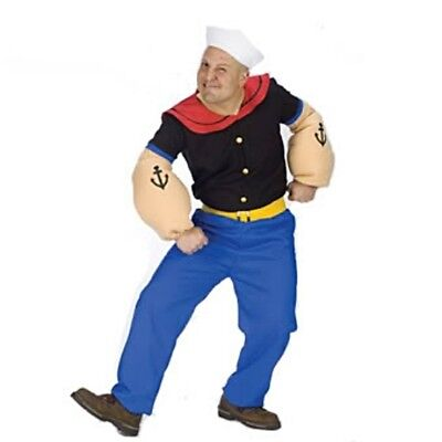 Mens Adult Deluxe Popeye The Sailor Man Muscle Arms Costume](Muscle Arms Costume)